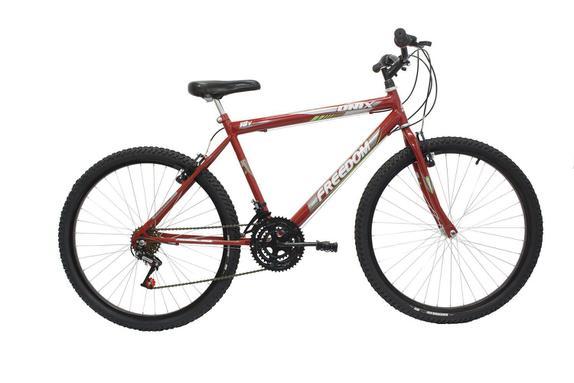 Bicicleta Freedom Bike Racer Aro 20 Rígida 1 Marcha - Vermelho