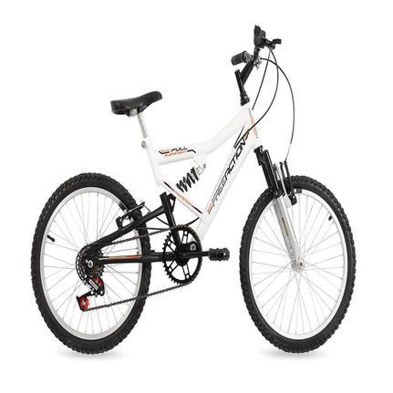 Bicicleta Free Action Fa240 Aro 20 Full Suspensão 6 Marchas - Branco
