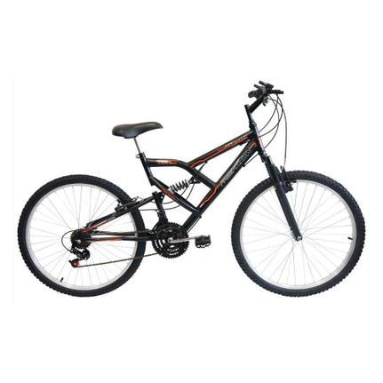 Bicicleta Free Action Fa240 Aro 26 Full Suspensão 18 Marchas - Preto