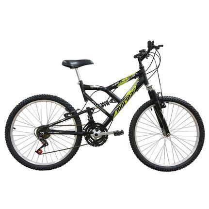 Bicicleta Mormaii Fullsion Aro 24 Full Suspensão 18 Marchas - Preto