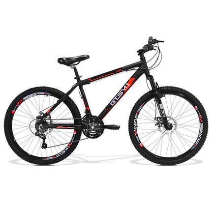 Bicicleta Gts M1 Walk New Disc T17 Aro 26 Susp. Dianteira 21 Marchas - Branco/vermelho