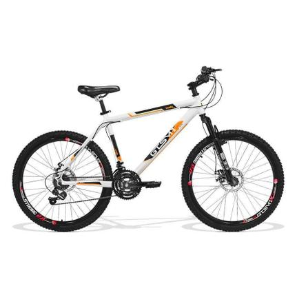 Bicicleta Gts M1 Walk New Disc T21 Aro 26 Susp. Dianteira 21 Marchas - Branco/laranja