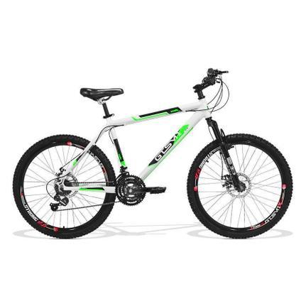 Bicicleta Gts M1 Walk New Disc T17 Aro 29 Susp. Dianteira 21 Marchas - Branco/vermelho