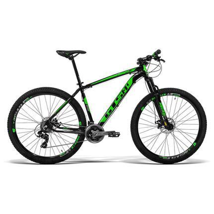 Bicicleta Gts M1 Ride New T19 Aro 29 Susp. Dianteira 24 Marchas - Preto/verde