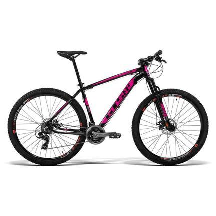 Bicicleta Gts M1 Ride New T17 Aro 29 Susp. Dianteira 24 Marchas - Preto/rosa