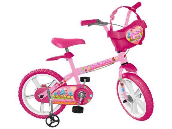 Bicicleta Bandeirante Sweet Game Aro 14 Rígida 1 Marcha - Rosa