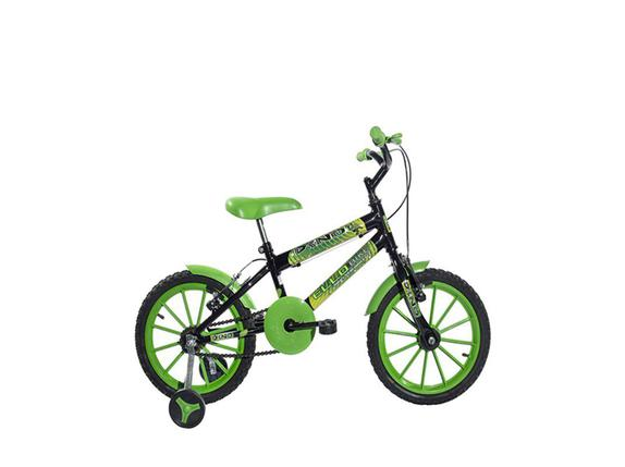 Bicicleta Ello Bike Dino Aro 16 Rígida 1 Marcha - Preto/verde