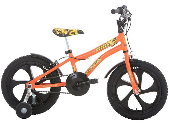 Bicicleta Houston Nic Aro 16 Rígida 1 Marcha - Laranja