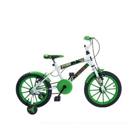 Bicicleta Kls K10 Aro 16 Rígida 1 Marcha - Branco/verde