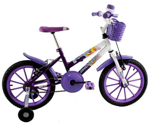 Bicicleta Dalannio Bike Milla Aro 16 Rígida 1 Marcha - Branco/violeta