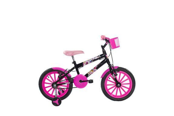 Bicicleta Ello Bike Paty Aro 16 Rígida 1 Marcha - Preto/rosa