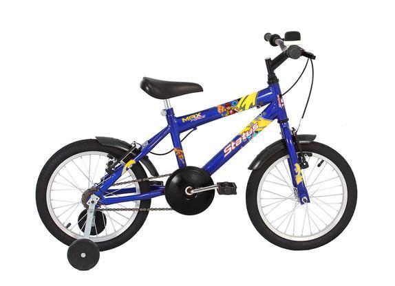 Bicicleta Status Bike Max Force Aro 16 Rígida 1 Marcha - Azul