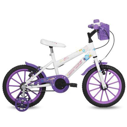 Bicicleta Mormaii Sweet Girl Aro 16 Rígida 1 Marcha - Branco/roxo