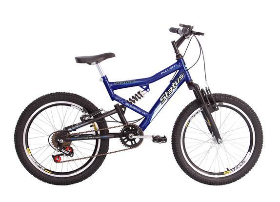 Bicicleta Status Bike Fullsion Aro 20 Full Suspensão 6 Marchas - Azul