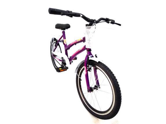 Bicicleta Avance Bike Ceci Aro 20 Rígida 1 Marcha - Branco/violeta