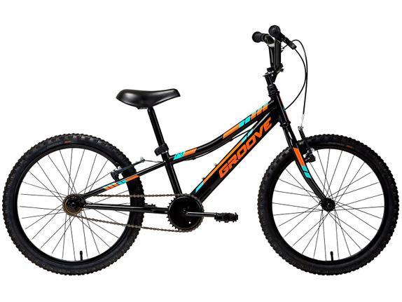 Bicicleta Groove Ragga Aro 20 Rígida 1 Marcha - Preto