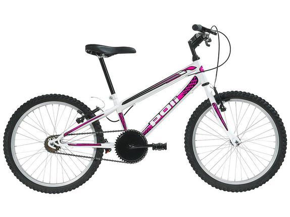 Bicicleta Polimet Delta Aro 20 Full Suspensão 1 Marcha - Branco