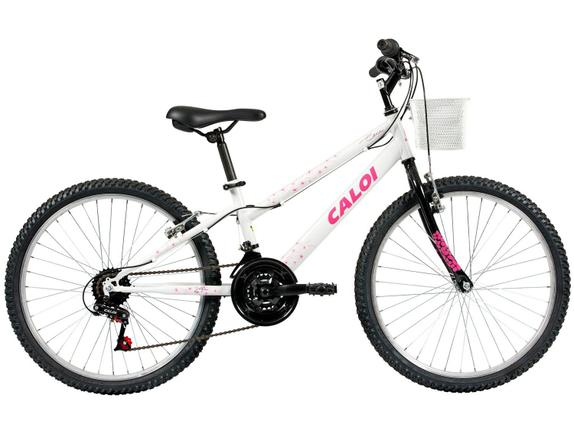 Bicicleta Caloi Ceci Aro 24 Rígida 21 Marchas - Branco