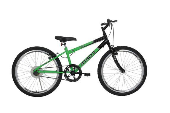 Bicicleta Athor Bike Legacy Aro 24 Susp. Dianteira 18 Marchas - Preto/verde