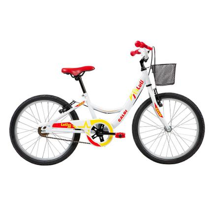Bicicleta Caloi Barbie Aro 20 Rígida 1 Marcha - Branco/vermelho