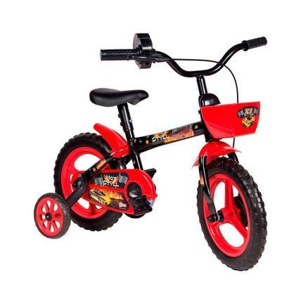 Bicicleta Styll Hot Aro 12 Rígida 1 Marcha - Preto/vermelho