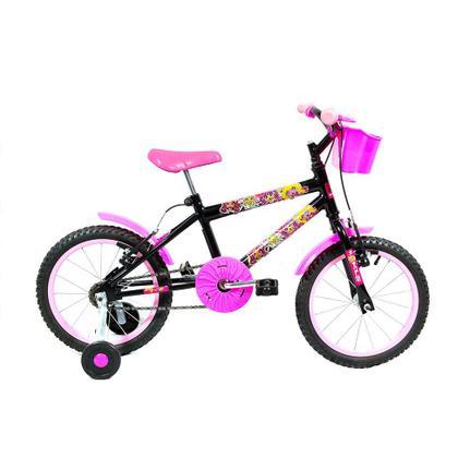 Bicicleta Kls Monster Aro 16 Rígida 1 Marcha - Preto/rosa