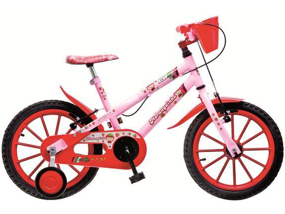 Bicicleta Colli Bike Moranguinho Aro 16 Rígida 1 Marcha - Rosa