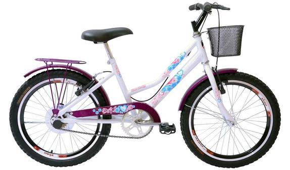 Bicicleta Mega Bike New Lady Gold Aro 20 Rígida - Branco