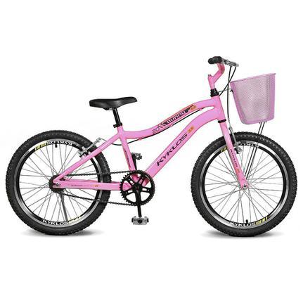 Bicicleta Kyklos Bunny 3.9 Aro 20 Rígida 1 Marcha - Rosa
