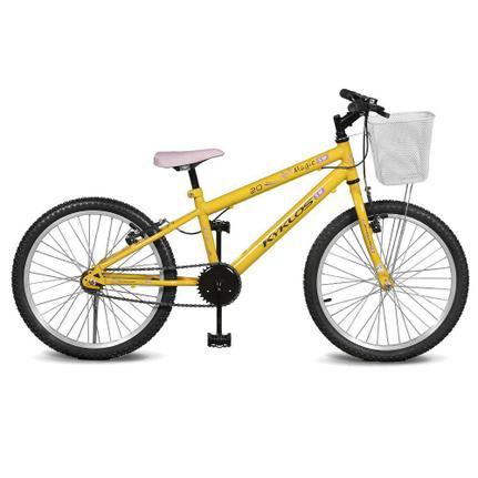 Bicicleta Kyklos Magie Aro 20 Rígida 1 Marcha - Amarelo
