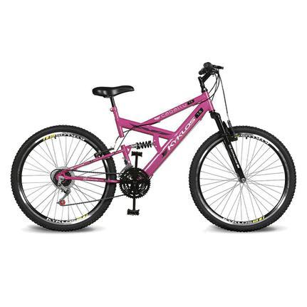 Bicicleta Kyklos Caballu 7.5 Aro 26 Full Suspensão 21 Marchas - Rosa