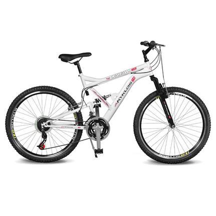 Bicicleta Kyklos Caballu 7.8 Aro 26 Susp. Dianteira 21 Marchas - Branco/vermelho