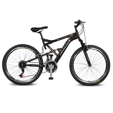 Bicicleta Kyklos Caballu 7.9 Aro 26 Full Suspensão 21 Marchas - Laranja/preto