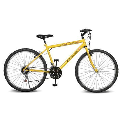 Bicicleta Kyklos Move Aro 26 Rígida 21 Marchas - Amarelo