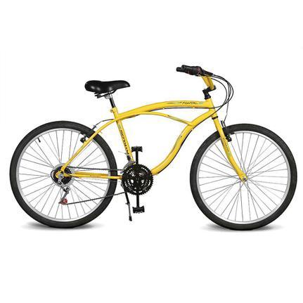 Bicicleta Kyklos Pontal 6.4 Aro 26 Rígida 21 Marchas - Amarelo