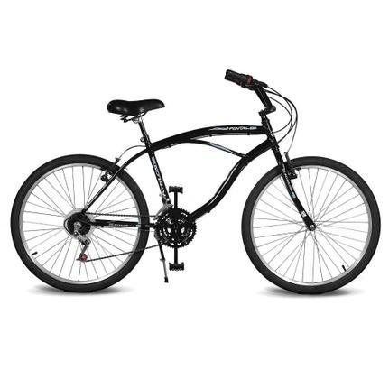 Bicicleta Kyklos Pontal 6.4 Aro 26 Rígida 21 Marchas - Preto