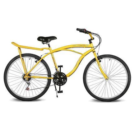 Bicicleta Kyklos Pontal 6.8 Aro 26 Rígida 21 Marchas - Amarelo