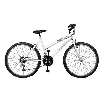 Bicicleta Master Bike Emotion Aro 26 Rígida 18 Marchas - Branco
