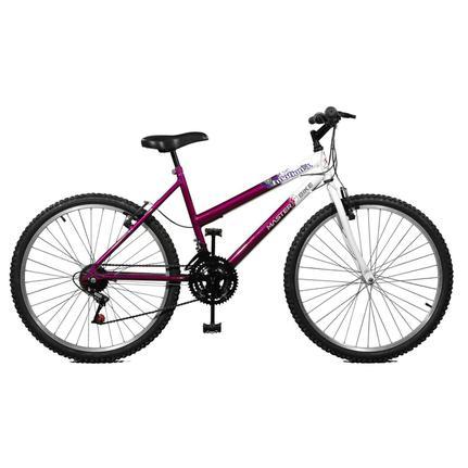 Bicicleta Master Bike Emotion Aro 26 Rígida 18 Marchas - Branco/violeta