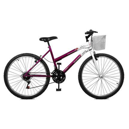 Bicicleta Master Bike Serena Plus Aro 26 Rígida 21 Marchas - Branco/violeta