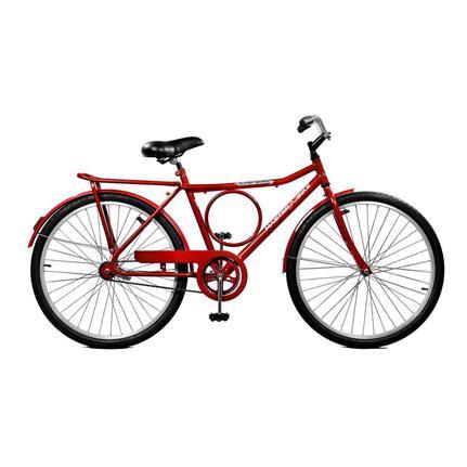 Bicicleta Master Bike Super Barra Cp Aro 26 Rígida 1 Marcha - Vermelho