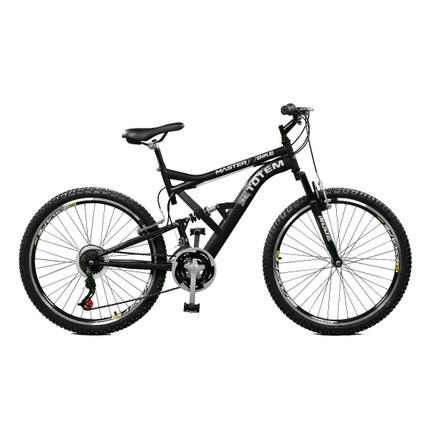 Bicicleta Master Bike Totem Aro 26 Full Suspensão 21 Marchas - Preto