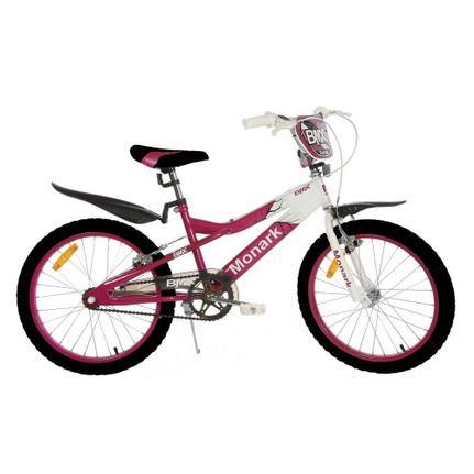 Bicicleta Monark Bmx Ranger Aro 20 Rígida 1 Marcha - Branco/rosa