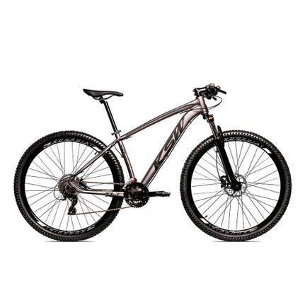 Bicicleta Ksw Xlt Disc H T17 Aro 29 Susp. Dianteira 27 Marchas - Cinza/preto