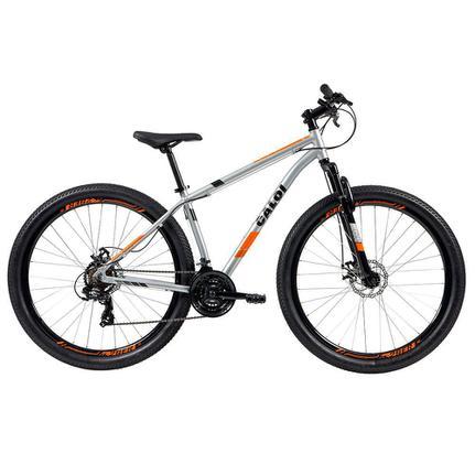 Bicicleta Caloi Two Niner Aro 29 Susp. Dianteira 21 Marchas - Prata