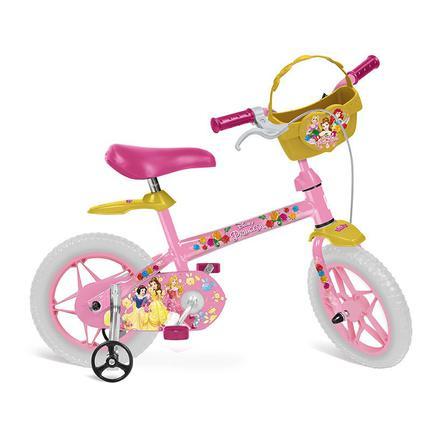 Bicicleta Bandeirante Princesas Disney Aro 12 Rígida 1 Marcha - Amarelo
