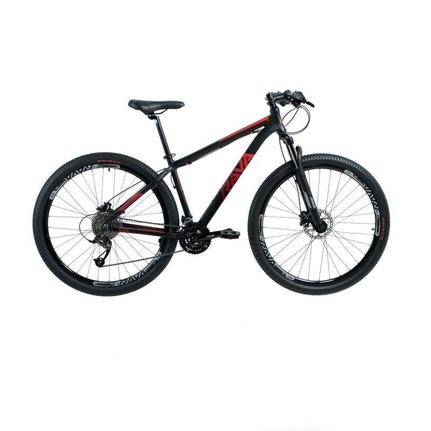 Bicicleta Rava Pressure Disc H T17 Aro 29 Susp. Dianteira 27 Marchas - Preto/vermelho