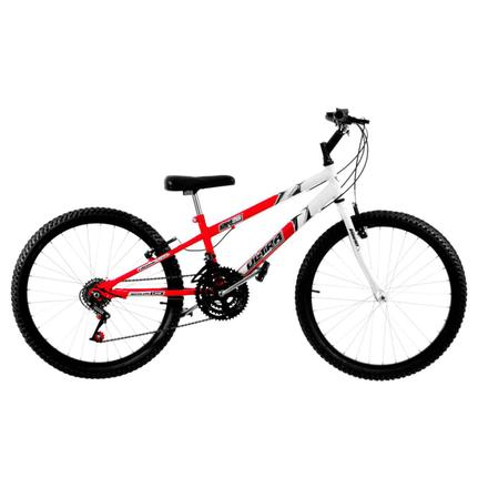 Bicicleta Ultra Bikes Pro Tork Aro 26 Rígida 18 Marchas - Branco/vermelho