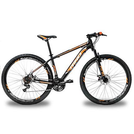 Bicicleta Rino Atacama T19 Aro 29 Susp. Dianteira 21 Marchas - Laranja/preto