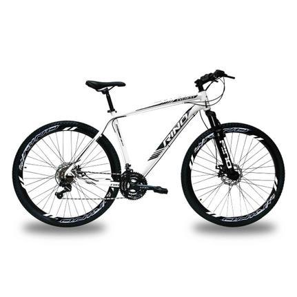 Bicicleta Rino Everest T19 Aro 29 Susp. Dianteira 21 Marchas - Branco